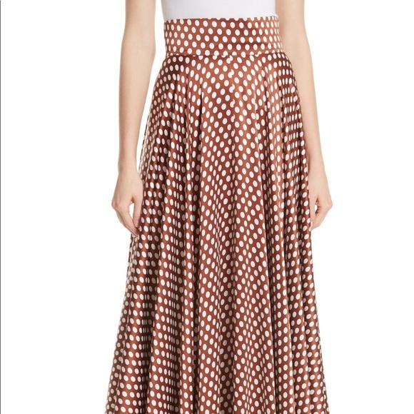 f2780739005 🌟NWT DVF Baker Sienna High Waist Dot Maxi Skirt